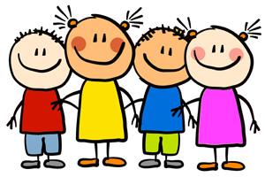 Grafika z czwórką dzieci